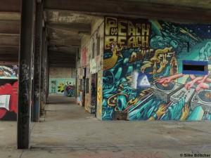 Graffiti-Wände auf dem Teufelsberg